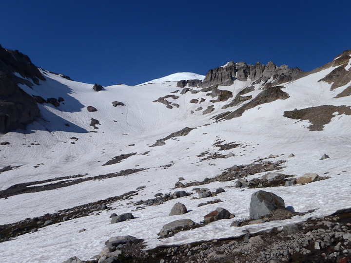 The Inter Glacier from Glacier Basin.  Photo Andy Knell