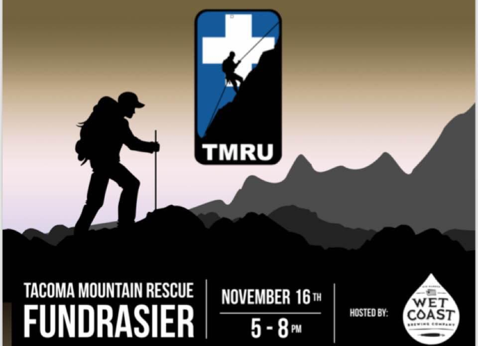 Wet Coast Brewing and Tacoma Mountain Rescue Unit will be hosting their second annual Fundraising Night on the 16th of November